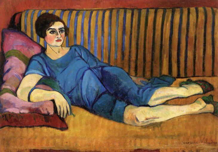 Valadon-mujer-recostada-en-un-sofá-1917-1918-e1530047527313
